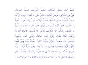 Entrada en el Facebook del Imam (as): Súplica el 9 deMuharram