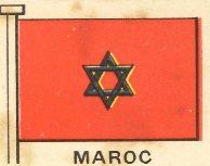 Bandera marroquí de 1938.